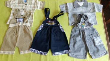 Dva kompleta kratkih pantalona sa kosuljicama i plus jos jedne isto - Petrovac na Mlavi
