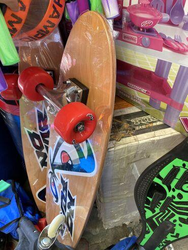 Сноуборды - Кыргызстан: Лонг борд Деревянный скейтборд с рисунком. Для катания и трюков, подой