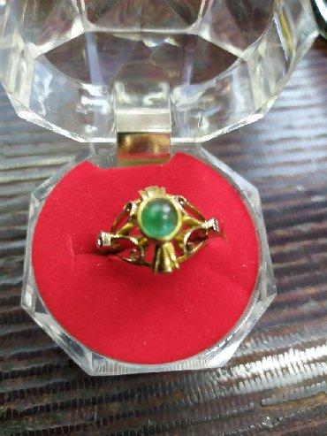 Кольцо с бриллиантом и изумрудом,750 проба,вес 5,8гр, размер-17.5