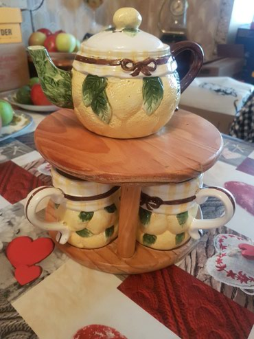Bakı şəhərində Чайный набор.Чайник с 4 чашками 40 ман