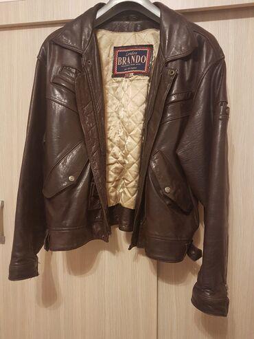 BRANDO KOŽNA muška jakna, nošena samo par puta, JAKO OČUVANA, sjajna