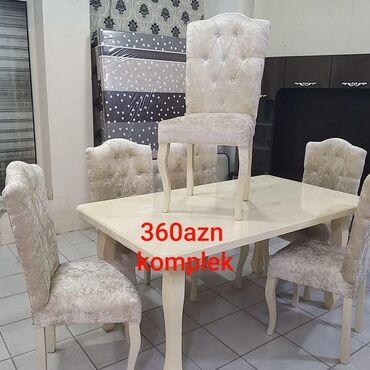 taxta yelləncək oturacaqlar - Azərbaycan: 🌸Mohtewem endirimlə qarwinizdayiq🌸Masa və 6 stul 3️⃣6️⃣0️⃣azn. 🌸Reng
