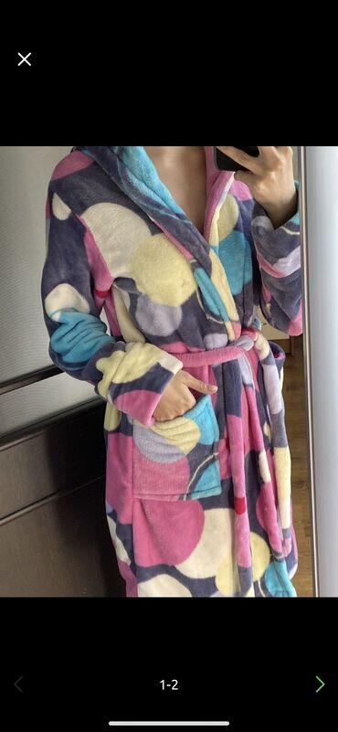 женское платье халат в Кыргызстан: Продаю халат Мягкий Состояние 9/10
