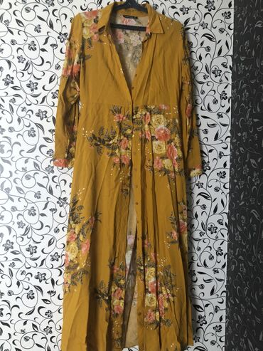 платья рубашки свободного кроя в Кыргызстан: Продаю длинное красивое платье-рубашку. Надевала 1 раз при беременност