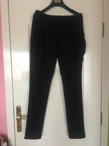Italijanske pantalone sa elastinom, krem i crne - Beograd - slika 2