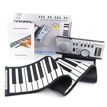 Портативное (силиконовое) пианино- 61 клавиш, удобно в применении(в