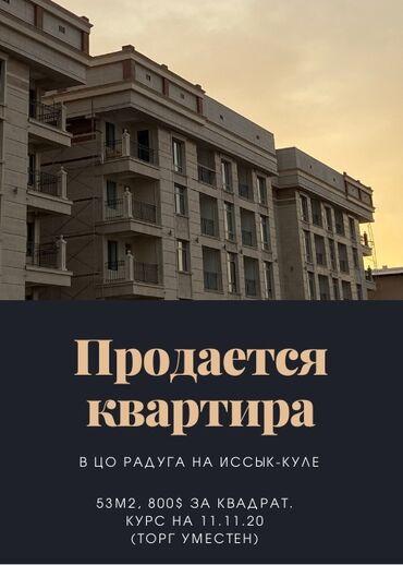 радуга пансионат в Кыргызстан: Продается квартира: 2 комнаты, 53 кв. м