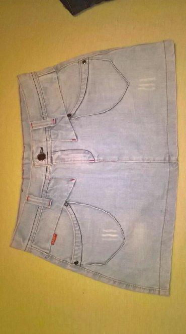 Ženska odeća   Svrljig: Teksas suknjica,jako lepog kroja.Bez ikakvih tragova nošenja zato što