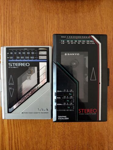 AIWA ~SANYO CassetePlayer.90~х.г.Радио работает.кассеты ~ замена