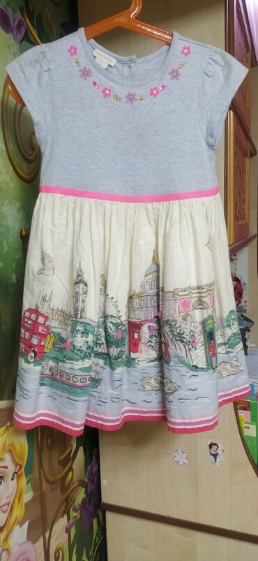 Восхитительное летнее платьице,низ ХБ,верх трикотаж, размер 3-4 года