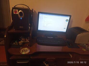 Продаю компьютер Б-У полный комплект + принтер рабочий колонки