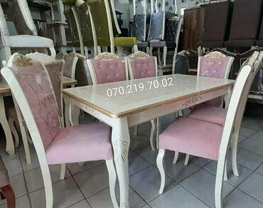 Mağaza vitrinleri - Азербайджан: Sifarislə 6 nəfərlik stol stul dəsdi unvana catdirilma pulsuz magaza
