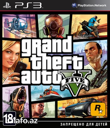 """Bakı şəhərində """"Grand Theft Auto V"""" Ps3 diski"""