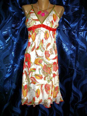 платье из шифона в Кыргызстан: Красивое платье из шифона с люрексом. Размер 42-44Италия. Качество