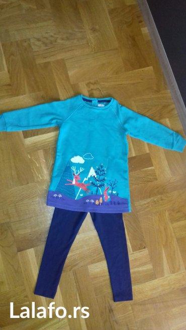 Tunika-haljinica i helanke. Velicina za dete 2-3 godine. Tunika obucen - Smederevo