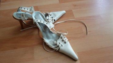 Sandale br. 37, duzina gazista 24cm+oko 2cm sto je duzina u spicu.  - Subotica