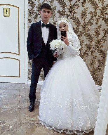 Свадебные платья - Токмак: Продаю свадебное платье. В комплекте имеются кольцо, подъюбник, фата