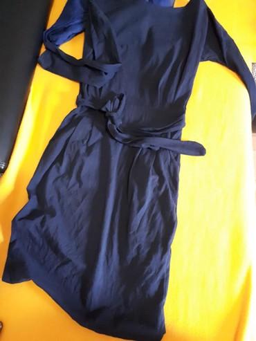 Esarpa-pamucna-xcm - Srbija: Pamucna teget haljina, vel.Univerzalna plus esarpa. Jednom obucena