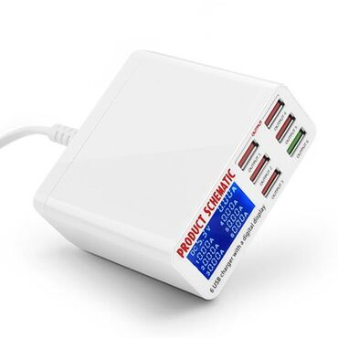 Kucni punjac multiport USB Digital Display.6 USB FAST beliUSB Brzi