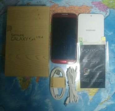 Samsung a 3 - Кыргызстан: Б/у Samsung Galaxy S4 32 ГБ Красный