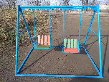 детские-игровые-площадки-для-двора в Кыргызстан: Детские разноуровневые качели! У вас дети разных возрастов? Такие