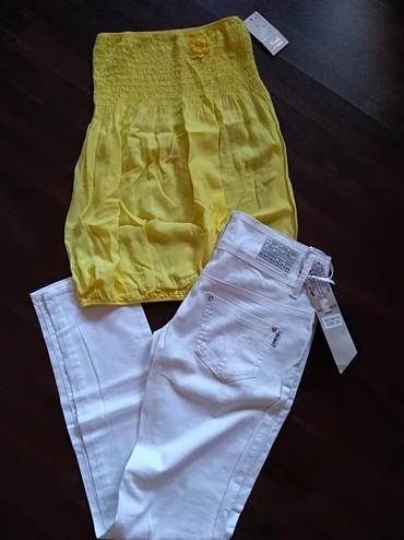Ženski komplet - Novo... Top majica i tanje letnje pantalone - Ruma