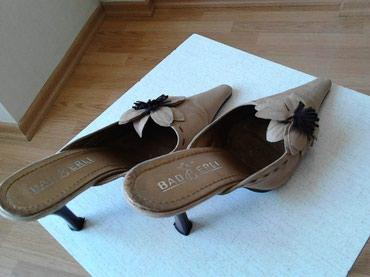Замшевые туфли коричневого цвета. Размер - 38. в Bakı
