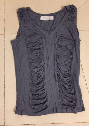 Zara Collection γκρί, αμάνικο τοπ . Viscose/ Elastine . Αφόρετο .  σε Rest of Attica