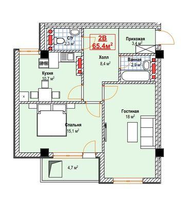 Продаю двухкомнатную квартиру в новом строящемся доме в рассрочку.  Пе