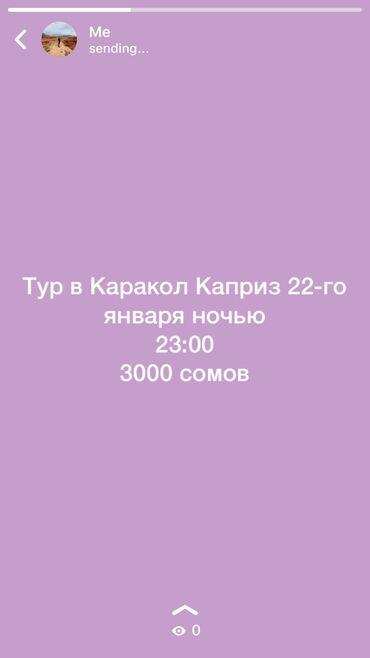 """Тур агент - Кыргызстан: Тур Каракол """"Каприз"""""""