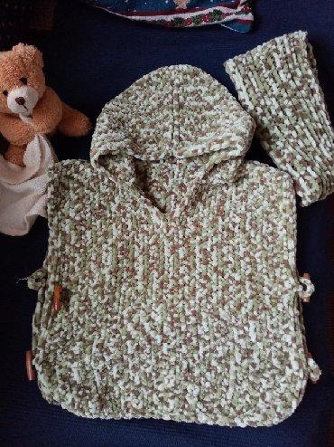 Ostala dečija odeća | Pozega: Dečji pončo od baby vunice koja ne izaziva alergije niti iritira kožu