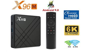 smart tv box - Azərbaycan: Tv box android smart tv box tuner.X96M 4k 4/32gb android smart tv