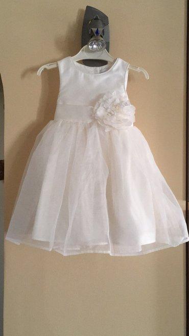 Svecana bela haljinica,preslatka,9-12m - Kragujevac