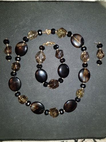 бусы и браслет в Кыргызстан: Набор из натуральных камней, браслет, бусы и серьги. Цена 500 сом