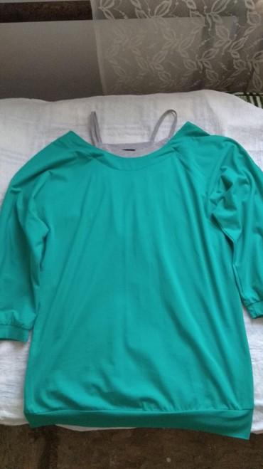Рубашки и блузы - Кок-Ой: Продаю кофту,новая,не разу не одевала,рукав 3/4,цвет бирюза