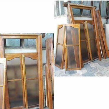 pencere - Azərbaycan: ENDİRİM OLDU 2 pencere uçun temiz taxtadan mat koriçneviy wuwesi