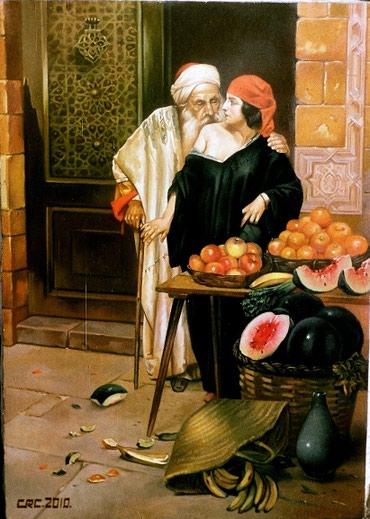 Bakı şəhərində Yağlı boya ilə əl işi