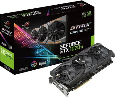 Видеокарта ASUS ROG Strix GeForce GTX 1070 Ti 8GB GDDR5 с коробками, в