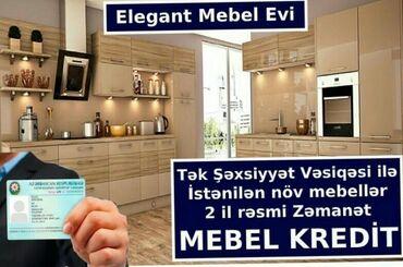 Tək şəxsiyyət vəsiqəsi ilə kreditlə mebellerin sifarişi və satışı