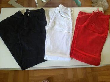 Lanene pantalone - Srbija: Tri para lanenih pantalona vel.S.Sve za 1000 din.Crne/pojas 37,dubina