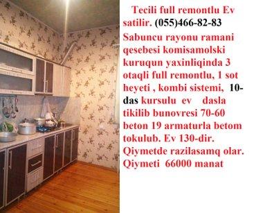 Bakı şəhərində Tecili full remontlu ev satilir. sabuncu rayonu ramani qesebesi