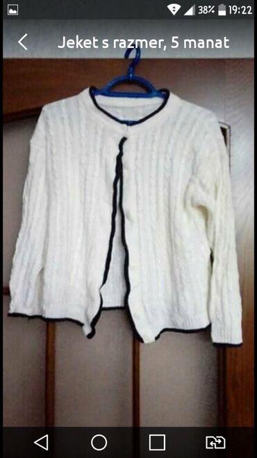 женские-белые-свитера в Азербайджан: Ağ jeket S razmer 5 manat