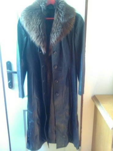 Duga zenska jakna - Srbija: Zenski mantil,dug,vel 40,viskoza,ocuvan(okovratnik se skida)