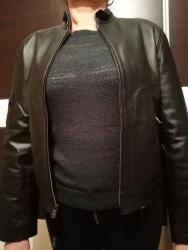 Nova crna Lynne kozna jakna od deblje koze sa etiketom. Postavljena je - Kovacica