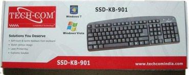 Клавиатура TECH-COM SSD-KB-901 USB черная в Бишкек