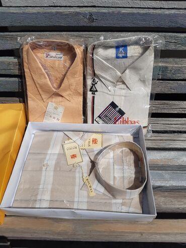 Личные вещи - Кировское: Рубашки новые, большого размера по вороту 44 - 45 х/б