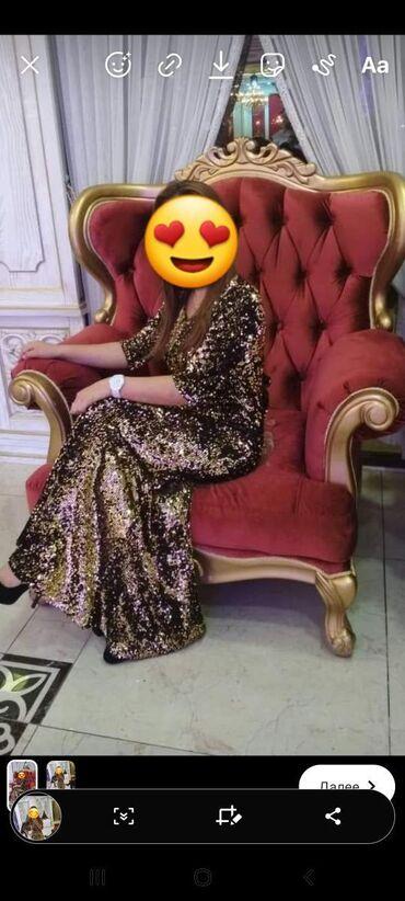 Продаю платье в хорошем состоянии б/у 1 )цвет золотистый сзади есть
