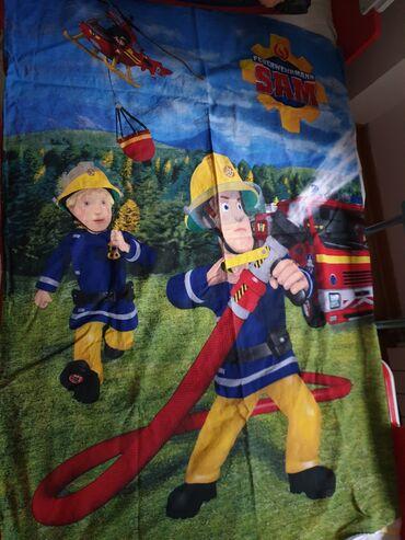 Posteljina - Srbija: Decija posteljina Sima vatrogasac (Sa jedne strane je jedna slika a sa