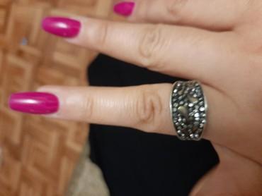 женское кольцо 19 размер в Кыргызстан: Шикарное серебряное кольцо ручной работы 925°. Размер 19