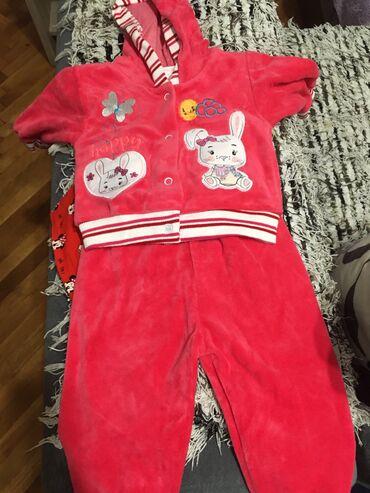 Ostala dečija odeća | Smederevo: Nov kompletić roze boje plišani ali je tanak. Pise 6-9 meseci ami mi